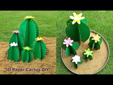 How to make 3D Cactus | DIY Paper Crafts