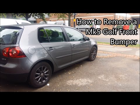 Vw Mk5 Golf Front Bumper Removal (Similar for GT, GTI, R32 & Jetta)