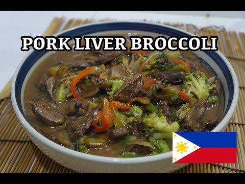 🇵🇭 Pork Liver Broccoli Recipe - Pinoy Tagalog Filipino