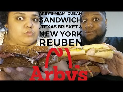 Arby's Miami Cuban Sandwich , Texas Brisket & New York Reuben Food Review