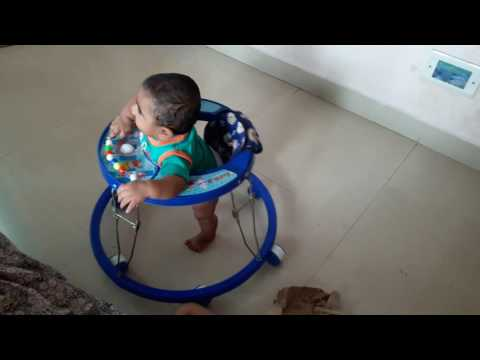 5 month baby walking in walker