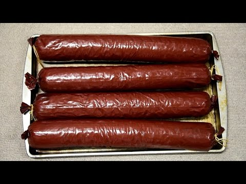 Best Deer Summer Sausage Smoked in Masterbuilt Electric Smoker