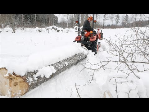 Logging With A Mini Tractor