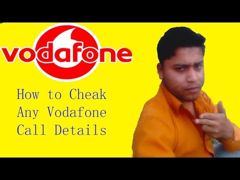 How to get call detail of any vodafone number 2018 method