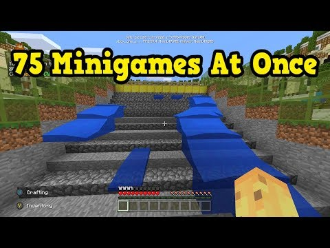 Minecraft Xbox / PE - 75 Minigames in One Map????