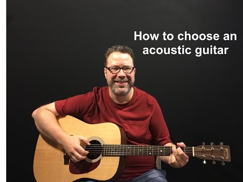 How to choose first acoustic guitar