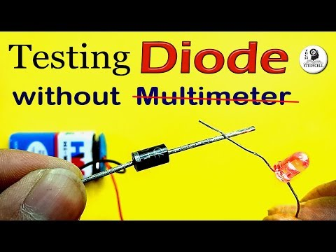 How to test Diode without using multimeter