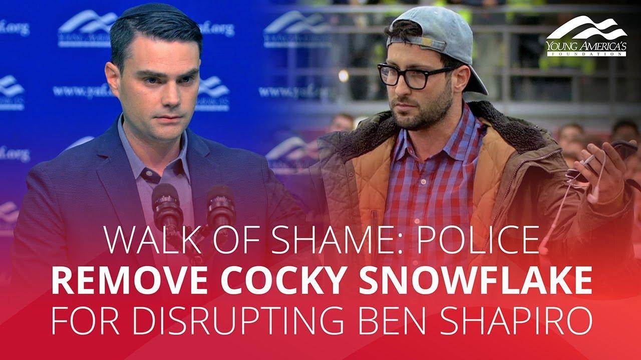 WALK OF SHAME: Police remove cocky snowflake for disrupting Ben Shapiro