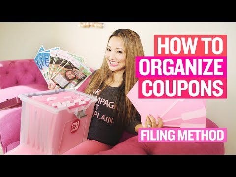 ★ How to Organize Coupons - Whole Insert Filing Method