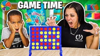DJ & Mommy Play Connect 4 Board Game For Family Game Night!