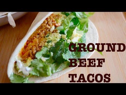 Quick Ground Beef Tacos Recipe -- Parisian Kitchen