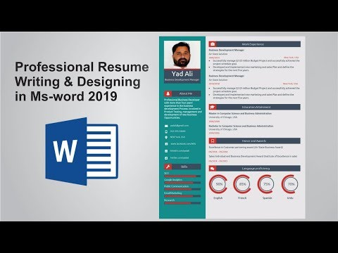 Professional resume writing and designing for jobs in Microsoft word 2019