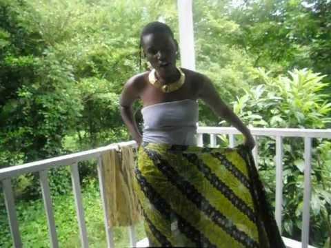 How To Do A Afrakan Wrap Skirt And Top