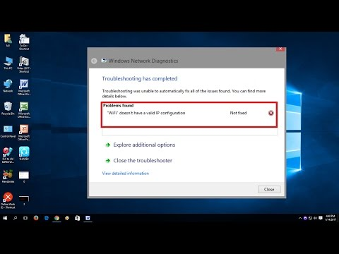 How to Fix Wi-Fi doesn't have a valid IP configuration error in Windows 10/8.1/7