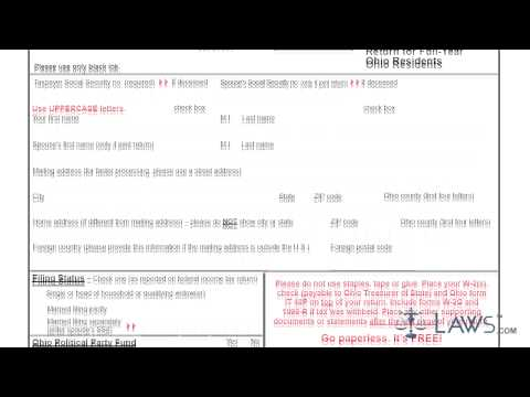 Form IT 1040EZ Individual Income Tax Return for Full Year Ohio Residents