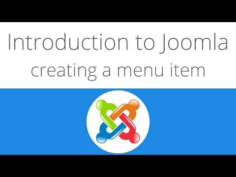 Joomla for beginners tutorial 4 - Creating a new menu item