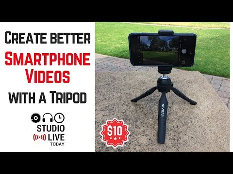 Create better smartphone videos with a portable tripod (Vivitar)