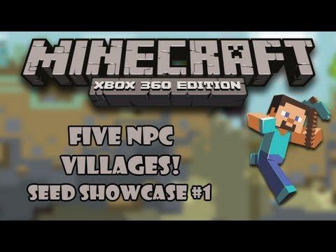 FIVE NPC VILLAGES! - Minecraft (Xbox 360) 1.8.2 Seed Showcase #1