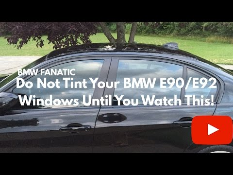 Do Not Tint Your BMW 3 Series E90/E92 Windows Until You Watch This!!