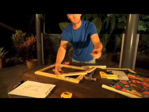DIY Framing and Stretching a Canvas