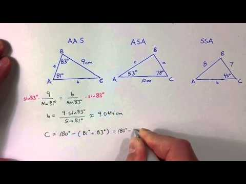 (6.1) Solving AAS and ASA Triangles