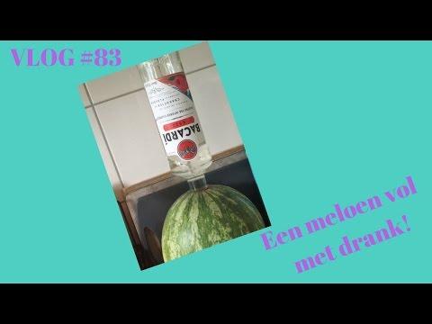 Een meloen vol met drank! VLOG #83