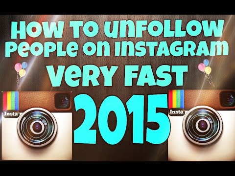 How to unfollow people on Instagram fast! |2015|