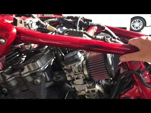 2001 Suzuki Bandit 1200S maintenance #2 - placed carbs back on bike, and starting it