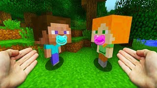 REALISTIC MINECRAFT - BABY STEVE MEETS BABY ALEX!👶