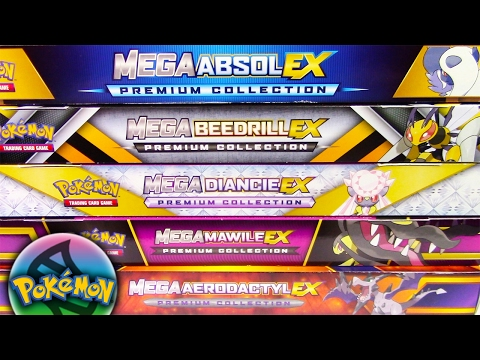 5 DIFFERENT MEGA PREMIUM COLLECTION BOXES THE ULTIMATE SUPER MEGA POKEMON CARDS OPENING!