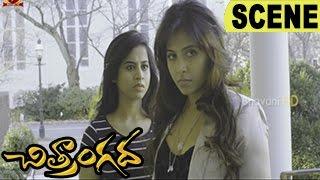 Anjali Fights With Sakshi Gulati Boyfriend Rajesh - Comedy Scene || Chitrangada Movie Scenes