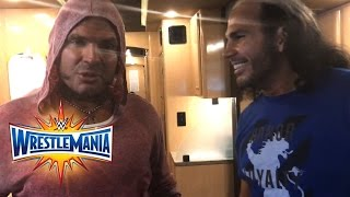 WWE talks to The Hardy Boyz moments before their return: WrestleMania Exclusive, April 2, 2017