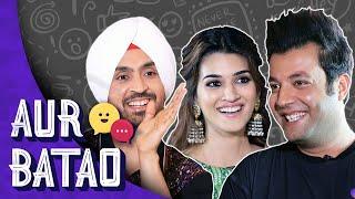 ARJUN PATIALA INTERVIEW || Diljit, Kriti, Varun Sharma reveal who falls in & out of love quickest
