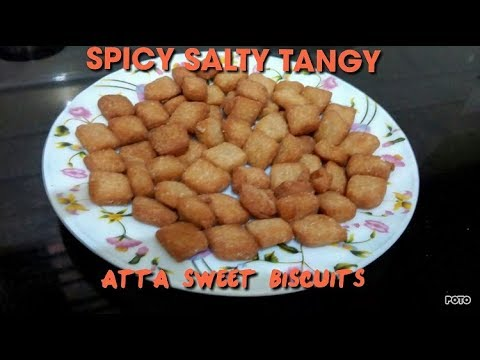 Atta Sweet Biscuits   Snack recipe   South Indian Recipes