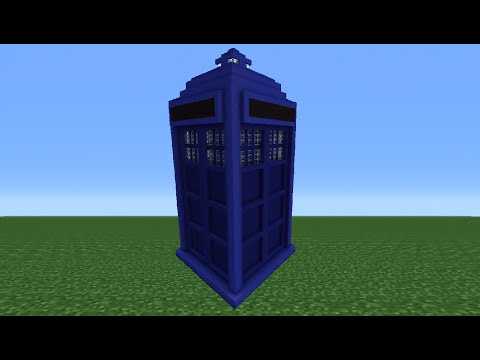 Minecraft Tutorial: How To Make The Tardis (Exterior)