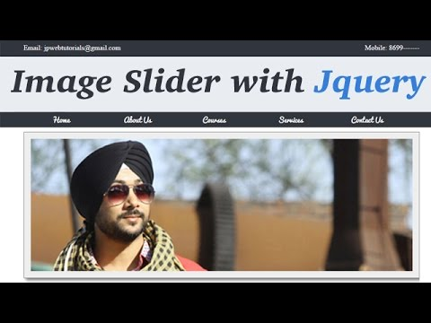 How to apply Image Slider effect in your website with help of jquery. (Hindi/Urdu)