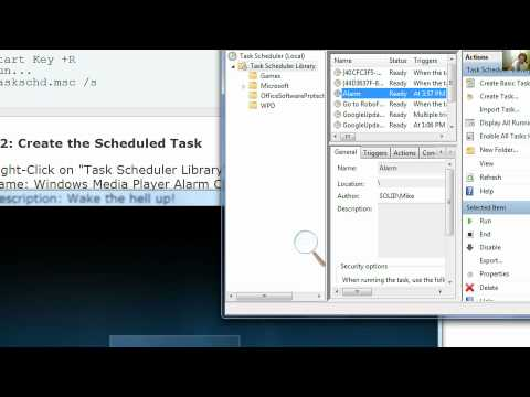 Windows Media Player Alarm Clock using Task Scheduler