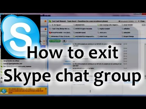 how to unsubscribe and remove yourself from a skype chat group