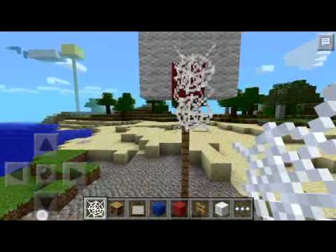 Minecraft pe how to build a basketball hoop