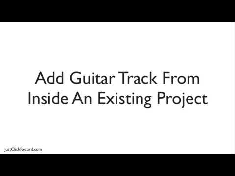 How To Add A New GarageBand Guitar Track
