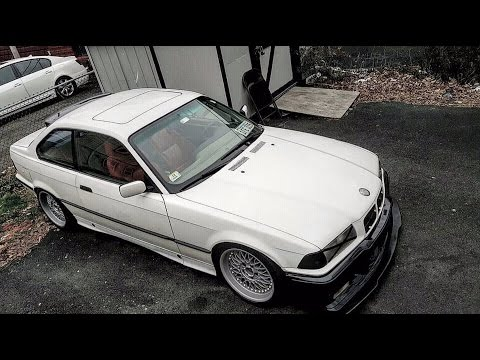 insanely loud, low and slow E36 with m3 bumper & FRS/BRZ lip. Civic coupe Visor/Spoiler