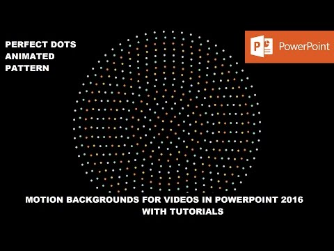 Animated Perfect Dots Pattern   Motion Backgrounds in PowerPoint 2016 Tutorial