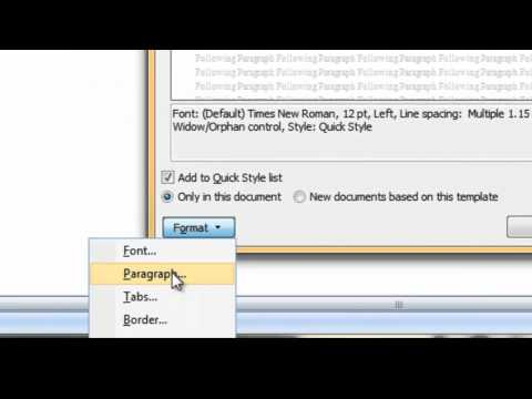 Change the Normal Style in Word 2007.mp4