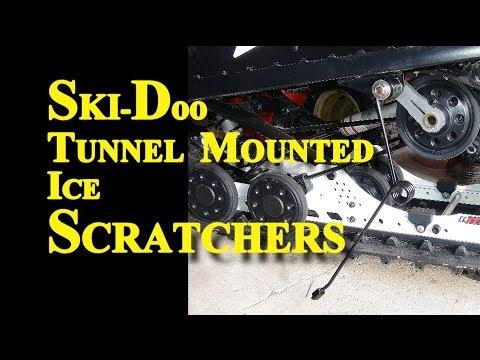 Ski Doo tunnel mounted Ice Scratchers Installation