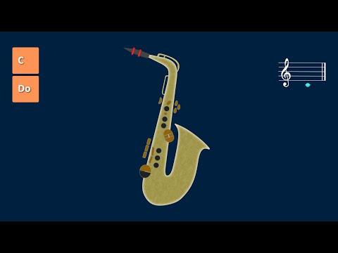 C major scale Alto Saxophone lessons. Escala de Do mayor clase de saxo alto.