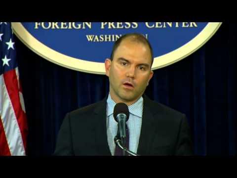 Deputy National Security Advisor Rhodes Gives an Update Following the President's West Point Speech