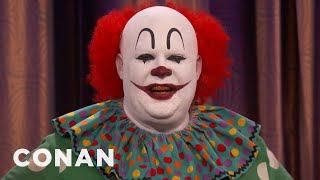 """Butterscotch The Clown Isn't Happy With """"IT""""  - CONAN on TBS"""