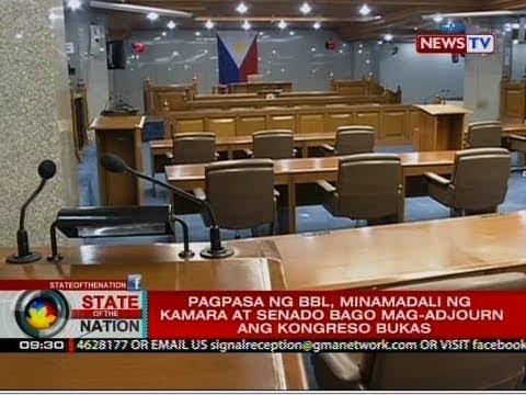 SONA: Pagpasa ng BBL, minamadali ng kamara at senado bago mag-adjourn ang kongreso bukas