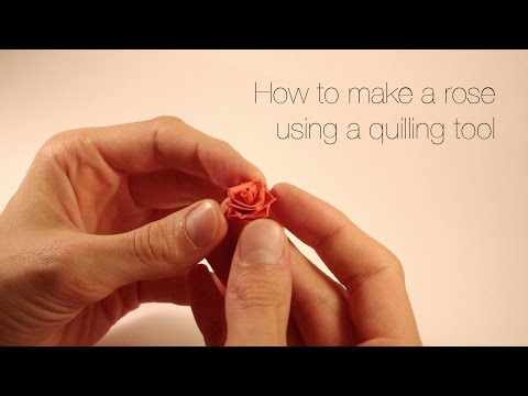 Tutorial -  quilling rose.