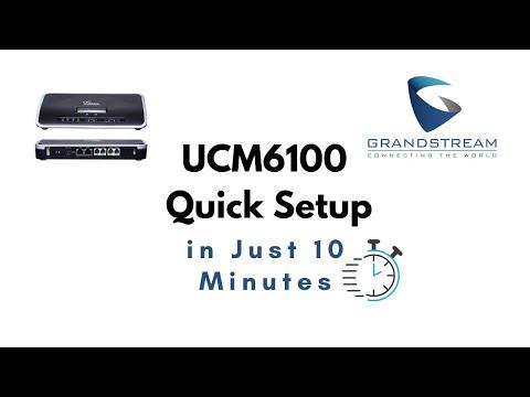 Grandstream IP PBX UCM6100  setup in 10 minutes (UCM6102, UCM6104, etc)